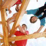 Auszubildende im Bereich der Holzbauausbildung