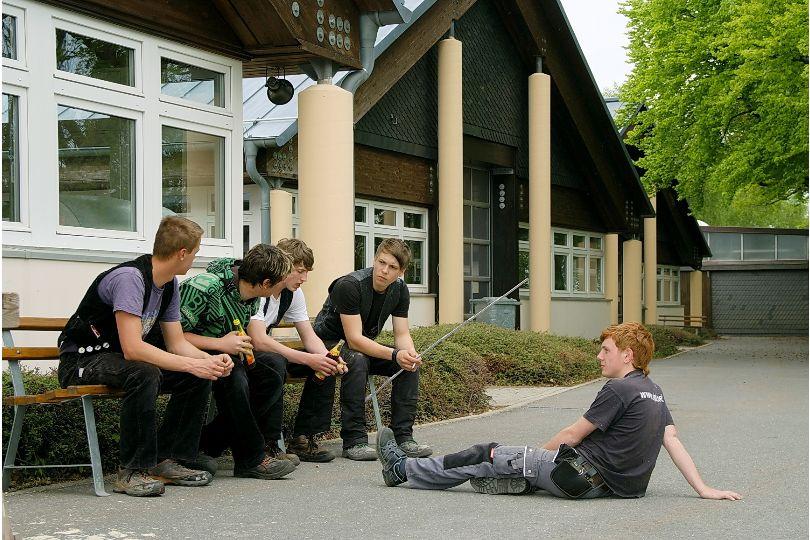 Gemütlicher Ausklang eines Ausbildungstages