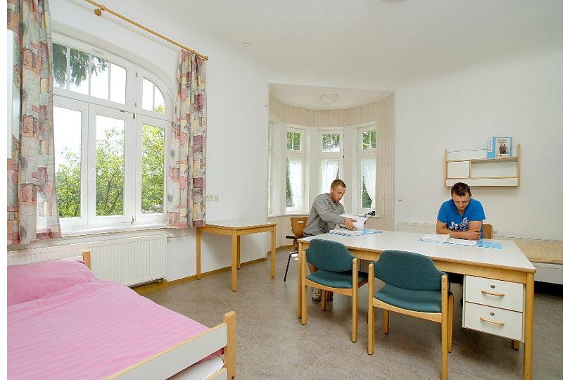 Doppelzimmer in der Villa der Dachdeckerschule Lehesten
