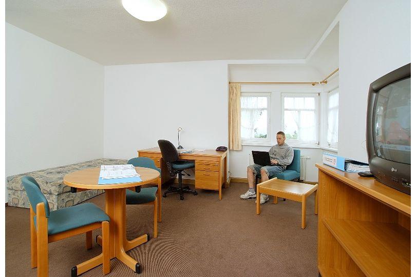 Zimmer in der Villa der Dachdeckerschule Lehesten