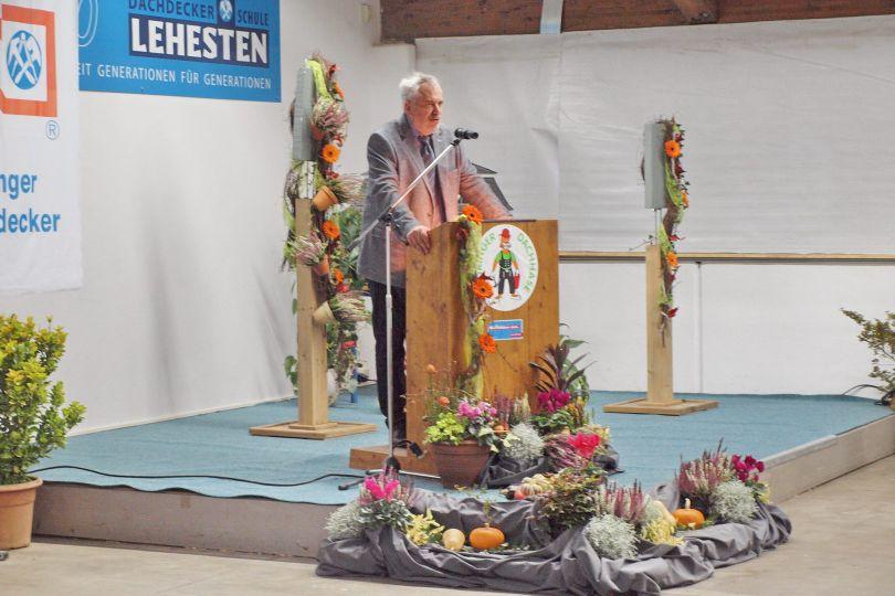 Dr. Gunter Oeser Meisterfeier Dachdeckerschule Lehesten