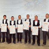 Dachdeckermeister bei der Meisterfeier Dachdeckerschule Lehesten